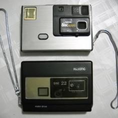 lot 2 aparat foto vechi cu film disc de colectie unu Kodak anii 70 functionabile