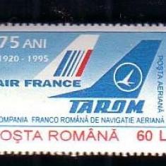 Timbre- 75 de ani de la infiintarea Institutului de de Medicina Aeronautica 1995 - Timbre Romania, Transporturi