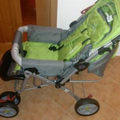 Carucior DHS nou, transport gratuit - Carucior copii Sport DHS Baby, 0-6 luni, Pliabil, Verde, Maner reversibil