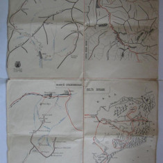 Harta turistica ( SUPLIMENT ALMANAHUL TURISTIC 1960 )
