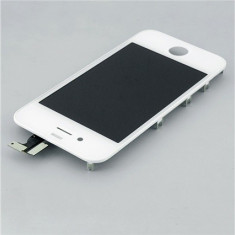 TouchScreen Digitizer LCD Display Rama Geam iPhone 4 White Original - Display LCD, iPhone 4/4S