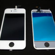 TouchScreen iPhone 4 Digitizer LCD Display Rama Geam Alb Original - Display LCD Apple, iPhone 4/4S