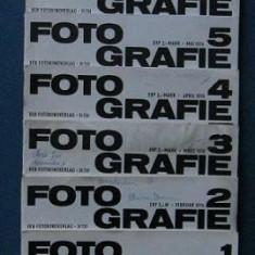"Colectie 11 reviste "" FOTOGRAFIE ""  1976 ( in limba germana )"