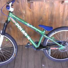 !! Dirt/Street NOU Super pret - Mountain Bike, 26 inch, Numar viteze: 1, Aluminiu, Verde-Albastru, Discuri