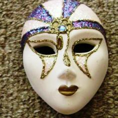Decoratiune casa - masca ceramica - miniatura - Venetia - Arta Ceramica