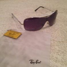 Ochelari de soare RAY-BAN ORIGINAL, absolut noi, 100% autentici, Unisex, Violet, Rotunzi, Metal, Protectie UV 100%