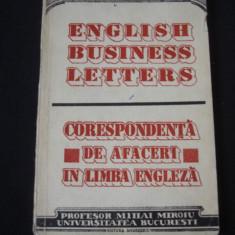 MIHAI MIROIU - CORESPONDENTA DE AFACERI IN LIMBA ENGLEZA - Ghid de conversatie