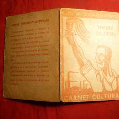 Carnet CGM -Cultural, cu 4 Timbre fiscale, cca 1948 - Diploma/Certificat