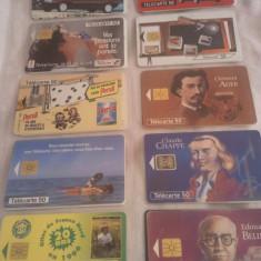Lot 20 cartele telefonice Franta 4 cu SIM + folie de plastic + taxele postale = 50 roni