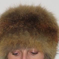 SET Caciula si guler de vulpe romaneasca - Caciula Dama