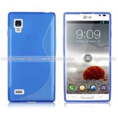 husa protectie silicon albastra LG Optimus l9 p760 antiradiatii + folie protectie ecran + expediere gratuita