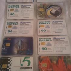 Lot 20 cartele telefonice Bulgaria cu SIM + folie de plastic + taxele postale = 50 roni
