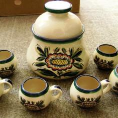 Set - bauturi / Punci / Vin Fiert / Compot - ceramica - West Germany - 1970