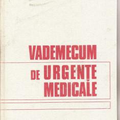 (C3762) VADEMECUM DE URGENTE MEDICALE DE GEORGE POPA, EDITURA MEDICALA, BUCURESTI, 1981