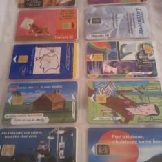 Lot 20 cartele telefonice Franta 6 cu SIM + folie de plastic + taxele postale = 50 roni