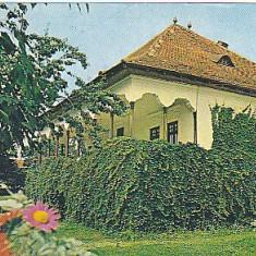 Valenii de Munte, Muzeul N Iorga, vedere carte postala circulata 1986