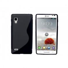 husa protectie silicon neagra LG Optimus l9 p760 antiradiatii + folie protectie ecran + expediere gratuita