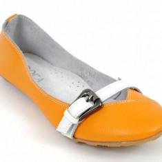 BALERINI PIELE - Balerini dama, Culoare: Orange, Marime: 36, 37, 41