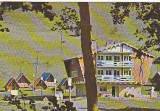 Muntii Orastiei, cabana Costesti, vedere carte postala circulata 1981