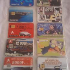 Lot 20 cartele telefonice Franta 1 cu SIM + folie de plastic + taxele postale = 50 roni