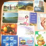12 CALENDARE DE BUZUNAR DIN 2006-2013 - Calendar colectie