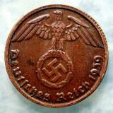 7.498 GERMANIA AL III-LEA REICH 1 REICHSPFENNIG 1939 D EROARE, Europa, Bronz