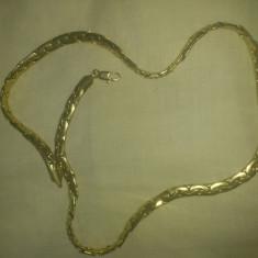 Lant inox suflat cu aur 18k - Lantisor placate cu aur, Unisex