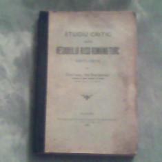 Studiu critic asupra resboiului ruso-romano-turc 1877-1878-Ion Stefanescu - Carte de aventura