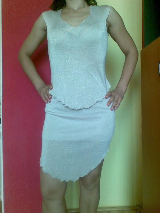 Rochie de seara marimea S, material lurex, de ocazie!