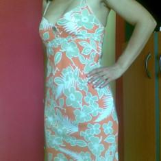 Rochie de zi Roxy Life marimea M, adusa din Franta! Arata excelent!, Marime: 38, Culoare: Orange, Scurta, Cu bretele, Vascoza