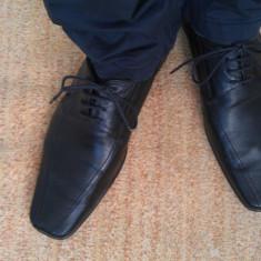 Pantofi Barbati, Marime: 42, Culoare: Negru, Negru