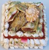 AuX: Draguta CASETA De Bijuterii Confectionata Manual Din Scoici Si Cochilii De Melci Exotici Cutie Cubica Din Lemn Si Catifea Made In Philippines!