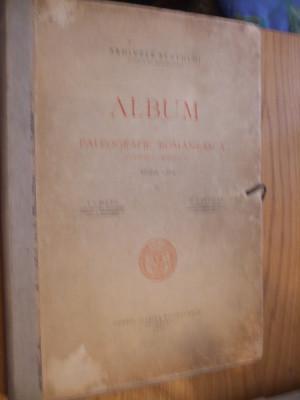 ALBUM DE PALEOGRAFIE ROMANEASCA *( Scriere Chirilica )- Ed.a III -a, I. Bianu, N. Cartojan  --  Arhivele Statului, 1940, contine12 p.+ XLIV  planse foto