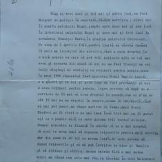 Petitie catre Regele Ferdinand , 1916 ,semnata Henry Catargi , Maresalul Curtii