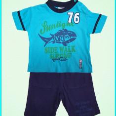 IMPECABIL _ Set tricou + pantaloni scurti, bumbac, SUGAR CLUB _ copii | 1 an, Marime: Alta, Culoare: Albastru, Baieti