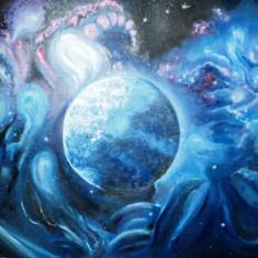 "Tablou ""Cosmos"" - pictura in ulei pe panza, 50x70 cm."