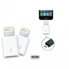Adaptor iPhone 5 Lightning Apple la MicroUSB, IOS 8, micro usb la lightning