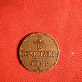 Moneda 1/2 Kr. 1851 Austria, cupru, cal.F.Buna, Europa