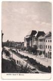 Carte postala(ilustrata)-BUZAU-B-dul N.Balcescu, Circulata, Fotografie