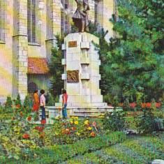 Bnk cp Bistrita - Statuia lui Andrei Muresanu - circulata