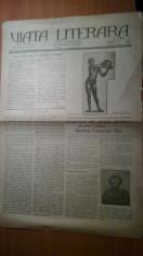 """ziarul viata literara 1 decembrie 1928-articolul """"lucifer"""" de george calinescu foto"""
