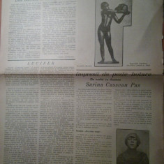 "ziarul viata literara 1 decembrie 1928-articolul ""lucifer"" de george calinescu"