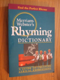 Merriam-Webster`s  RHYMING DICTIONARY * A Guide to Creating Lyrical Expressions