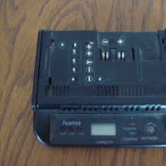 Incarcator universal baterii camere video HAMA cu afisaj - Incarcator Camera Video