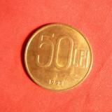 Moneda 50 Lei 1992 Romania, alama, cal.apr.NC, luciu - Moneda Romania