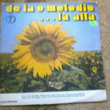 DE LA O MELODIE LA ALTA vol 7 disc Vinyl lp muzica pop rock usoara hit anii 70