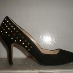 PANTOFI ZARA DAMA CU TINTE - Pantof dama Zara, Culoare: Negru, Marime: 36, Negru