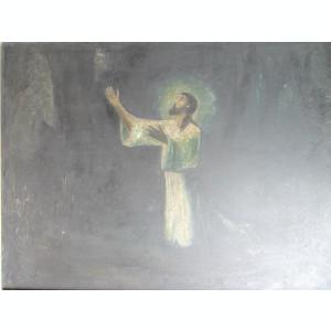 Tablou Isus, pictura veche, 111 x 88 centimetri