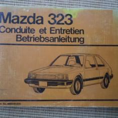 Mazda 323 carte auto tehnica limba franceza si germana conduite entretien hobby - Carti auto