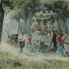"""Tablou """"Traditie din Andalusia"""" - pictura in ulei pe panza, 60x50 cm"""